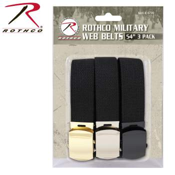 """Rothco 54 Inch Military Web Belts in 3 Pack, package belts, web belt buckles, military webbing, webbing belts, military style web belts, military webbing belt, 54 inch military web belts, web belts, 54 inch military web belt, military web belt, military web belts, web belt, 54 inch belts, 54 inch belt, military belt, military belts, 54"""" web belts, 54"""" web belt, fashion belt, belt, belts, webbed belts, webbed belt, military-style belts, rothco web belts, wholesale web belts, webbing, army web belt, military style web belt, army belt"""