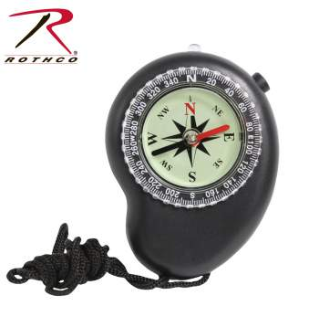 Rothco LED Compass with Lanyard, LED compass, LED, compass, compass with lanyard, lanyard, navigation, LED navigation, LED compass with Lanyard, compasses, camping gear, survival gear, outdoor compass, survival compass, tactical compass, one time use compass, Survival Compass
