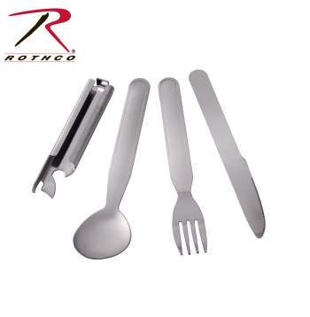 Rothco deluxe chow set, stainless steel chow set, chow set, camping chow set, military chow set, stainless steel military chow set, military cooking, military cooking set, camping utensil set, portable utensil, stainless steel utensils,