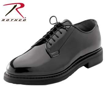 uniform shoe, oxford uniform shoe, military uniform shoe, police uniform shoe, hi-gloss shoe, hi gloss shoe, high gloss oxford shoe, navy oxfords, oxfords, dress shoe, uniform dress shoe, rothco oxfords