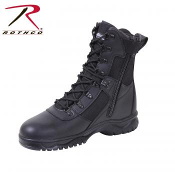 Rothco Insulated 8 Inch Side Zip Tactical Boot, tactical boot, military boot, footwear, foot wear, boots, insulated, 8 inch side zip, cold weather boots, combat boots, rothco, army boots, black tactical boots, black combat boots, black boots, rothco boots, police boots, insulated tactical boot