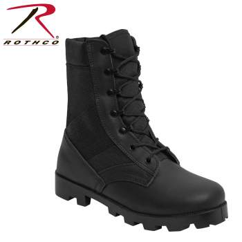 Rothco Black G.I. Type Speedlace Jungle Boot, jungle boots, black boots, jungle combat boots, combat boots, gi jungle boots, ripple sole, speedlace, rubber sole, military jungle boot, military boot, military combat boot, black combat boots, combat boot, rothco boots, panama sole boots, army boots, tactical boots, tactical work boots, tactical boot shoes, tactical shoes, tactical footwear, military boots, army boots, police boots,