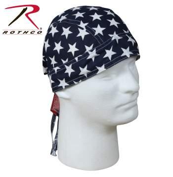 Rothco Stars & Stripes Headwrap, Rothco headwrap, headwrap, bandana, stars and stripes headwrap, head wrap, woodland camo head wrap, du rag, do rag, do-rag, skull cap, biker caps, stars and stripes bandana, biker bandana, biker headwrap, du-rag, head cap, do-rag, America headwrap, America bandana,  scrub cap, scrub hat, or scrub cap, surgical scrub cap