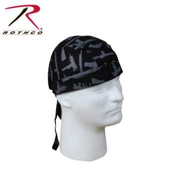 Rothco headwrap,headwrap,bandana,gun pattern headwrap,gun pattern bandana,head wrap,gun pattern head wrap,gun headwrap,gun head wrap