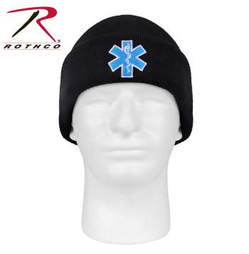 Rothco 'Star Of Life' Watch Cap, star of life watch cap, ems watch cap, emt watch cap, watch cap, beanie, winter hat, star of life beanie, skull cap, military watch cap, winter hats, watch hat, cold weather hats, star of life, EMS logo, EMS symbol, EMT logo, EMT symbol, paramedic symbol, EMS star of life, ambulance symbol, emergency symbol, paramedic logo, EMS watch cap, EMS skullcap, paramedic hat, ambulance hat, knit cap, sock hat, beanie hat, army beanie