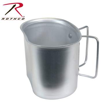 Rothco GI Style Aluminum Canteen Cup, Aluminum Canteen Cup, Canteen Cup, Metal Canteen Cup, Military Canteen Cup, GI Aluminum Canteen Cup, Army Canteen Cup, GI Canteen Cup, Aluminum Canteen Cup, canteen container, Aluminum cup, canteen cup, survival gear, camping supplies, GI Style Canteen Cup, GI Style Cup