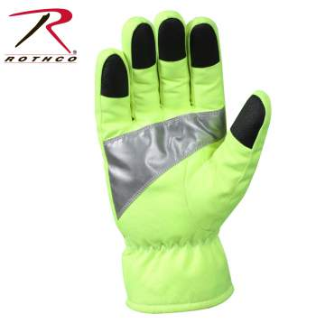 Rothco Safety Green Gloves With Reflective Tape, gloves, safety green gloves, reflective tape, safety green, work wear, work gloves, green gloves, reflective gloves, rothco gloves, glove, high visibility gloves, hivis gloves, safety gloves, work safety gloves, safety hand gloves, safety work gloves, cold weather gloves