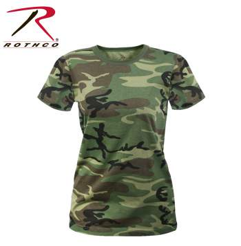 Rothco Womens Long Length Camo T-Shirt, camo t-shirt, womens camo t-shirt, camouflage t-shirt, womens camo, pink camo, pink camouflage, ladies camo, tee shirt, womens tee shirt, womens acu t-shirt, womens camouflage, digital camouflage shirts, womens camouflage shirts, womens camo shirts, women's camo shirts, long length camo shirts, pink digital camo, woodland camo, subdued urban digital camo, smokey branch camo, acu digital camo