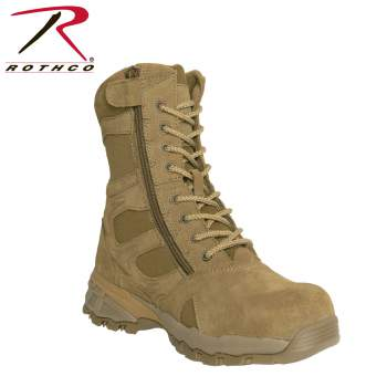 "Rothco 8"" Forced Entry Composite Toe AR 670-1 Coyote Brown Tactical Boot, tactical boots,composite toe boot,swat boot,safety toe,composite safety toe,tactical boot, military boot, military combat boot, combat boot, rothco boot, rothco boots, combat boots, military combat boots, black combat boots, police boots, rothco tactical boots, law enforcement boot, military boot, forced entry boot, 8 inch boot, eight-inch boot"