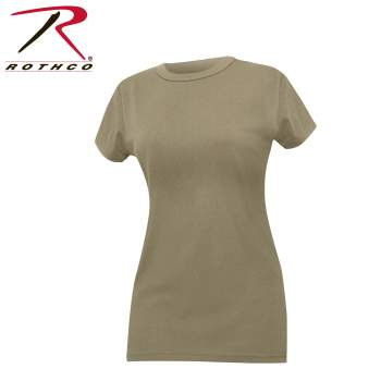 Rothco Womens Long Length T-Shirt, t-shirt, womens t-shirt, long length t-shirt, womens, coyote brown, coyote brown t-shirt, ladies coyote brown t-shirt, tee shirt, womens tee shirt, womens military t-shirt, womens tees, womens long length tees