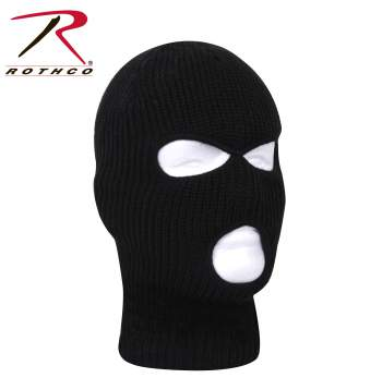 Rothco Fine Knit Three Hole Facemask, winter face mask, face mask for winter, face mask for the winter, winter facemask, Three Hole Facemask, three hole mask, face mask, facemask, winter facemask
