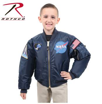 Rothco Kids NASA MA-1 Flight Jacket, Kids NASA MA-1 Flight Jacket, Kids MA-1 Flight Jacket, Kids NASA Flight Jacket, Kids NASA Jacket, MA-1 Flight Jacket, MA-1 Jacket, Children's Flight Jacket, Kids Flying Jacket, Kids Pilot Jacket, Kids Bomber Jacket, NASA Jacket, NASA MA-1 Flight Jacket