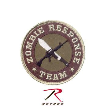 Rothco Zombie Response Team Patch, Hook Backing, zombie, airsoft patch, morale patch, zombie response team, patch, patches, zombie response team morale patch, zombie, tactical morale patches, velcro patches, hook and loop patches, zombie morale patches