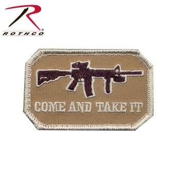morale patch, patches, hook & loop patches, patches, military patches, tactical patches, airsoft patches, airsoft, tactical gear, rifle patch, rifle image, airsoft rifle, come and take it patch, come and take it rifle patch, rothco morale patch, military morale patch, tactical morale patches, military velcro patches,