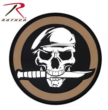 Rothco pvc skull/knife patch with hook back, Rothco skull/knife patch with hook back, Rothco skull/knife patch, skull/knife patch, skull/knife patch with hook back, pvc skull/knife patch, hook and loop, hook & loop, hook & loop patch, hook and loop patch, skull patch, skull patches, patch, patches, morale patch, morale patches, skull morale patch, tactical patches, tactical morale patches, skull morale patches, airsoft, airsoft patches, airsoft patch, airsoft morale patch, airsoft morale pathces, airsoft skull/knife patch, airsoft skull patch, airsoft knife patch, velcro airsoft patches, airsoft velcro patches, PVC morale patch, pvc patches,