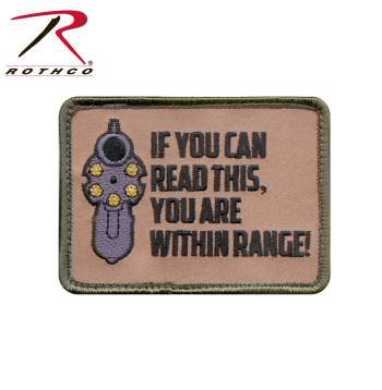 Rothco ''If You Can Read This'' Patch, Hook Backing, hook and loop, if you can read this, patch, morale patch, airsoft patch, rothco patch, patches, rothco airsoft patch, airsoft morale patch, tactical patches, military morale patches, funny morale patches, moral patch, military velcro patches, tactical airsoft morale patches, airsoft morale patches, airsoft patches, morale patch