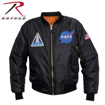 Rothco NASA MA-1 Flight Jacket, NASA, NASA apparel, NASA Meatball logo, MA-1, Flight Jacket, Space Shuttle, NASA, Meatball logo,
