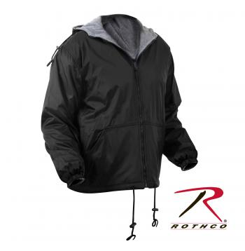 Rothco Reversible Lined Jacket With Hood, Reversible Lined Jacket, Nylon Jacket, Rain Jacket, Rain Gear, Rothco, Reversible Jacket, Rain Coat, Water Proof Jacket, Outerwear, Hooded Jacket, Hooded Rain Jacket, Zippered Jacket, Zippered Coat