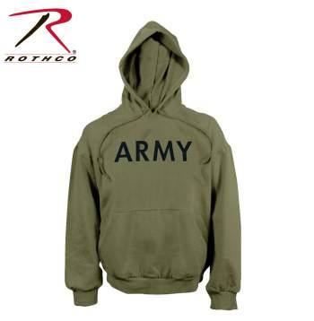 Rothco, hooded sweatshirt, pullover sweatshirt, sweatshirt, army hooded sweatshirt, army pullover sweatshirt, army sweatshirt, fleece sweatshirt, army fleece sweatshirt, hoodie, army hoodie, outerwear, military sweatshirt, military outerwear, olive drab, olive drab hoodie, olive drab sweatshirt, olive drab hooded sweatshirt
