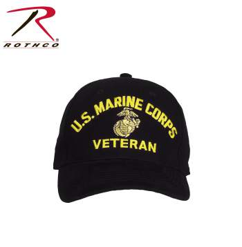 Rothco U.S. Marine Corps Veteran Hat, headwear, marines hat, marines veteran hat, us marines hat, marines cap, marines veteran cap, us marines cap, black marines cap, black marines hat, black marines veteran hat, black marines veteran cap, cotton hat, cotton cap, adjustable marines cap, adjustable marines hat, marine corps hat, USMC Hat, marine cap, marine corps caps, USMC Cap, marine hat