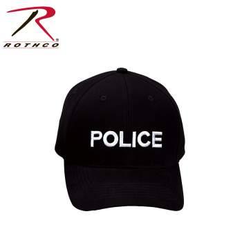 Rothco,Police,Supreme Low Profile,Insignia Cap,police hat,police cap,adjustable hat,adjustable police hat,work hat,law enforcement,law enforcement hat,black