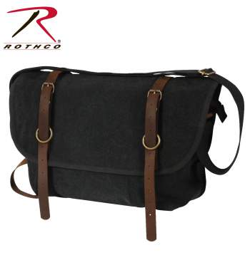 messenger bag, canvas messenger bag, canvas bag with leather, shoulder bag, bag, mans bag, murse, vintage canvas bag, vintage, vintage canvas,  laptop messenger bag, vintage explorer bag, vintage shoulder bag, crossbody bags, cross body bags, rothco bags, rothco shoulder bags, rothco canvas bags