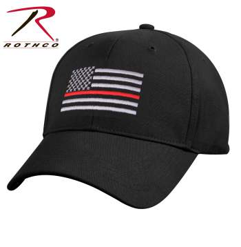 rothco thin red line low profile cap, red thin line low profile cap, red thin line, red thin line cap, red thin line hat, thin red line firefighter, thin red line flag, low profile cap, firefighter support, fire fighter cap, firefighter hat, fire fighter hat