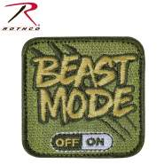Rothco Beast Mode Patch With Hook Back, Beast Mode Patch, Beast Mode Morale Patch, Morale Patch, tactical patch, airsoft patch, military patch, funny morale patch, military morale patch, tactical hat patch, plate carrier patch