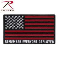 Rothco R.E.D. (Remember Everyone Deployed) Flag Patch With Hook Back, R.E.D. Flag Patch, R.E.D. Patch, remember everyone deployed patch, remember everyone deployed morale patch, remember everyone deployed gear, red remember everyone deployed, remember everyone deployed clothing, morale patch, military patch, veteran patch, tactical patch, milsim patch, paintball patch, airsoft patch