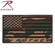 Rothco Brand US Flag Patch, Flag Patch, US Patch, Hook and Loop Flag Patch, Patriotic Patches, Hook Patches, US Flag, Camo US Flag, Hook and Loop Patch, American Flag Patch