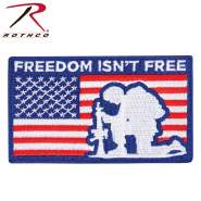 Rothco Freedom Isn't Free Patch With Hook Back, freedom isn't free, freedom is not free, freedom isn't free patch, freedom is not free patch, freedom is not free apparel, freedom patch, us freedom patch, us flag patch, us army flag patch, us flag patch velcro, us flag velcro patch, American flag patch, American flag velcro patch, American flag patch for jacket, morale patch, airsoft patch, paintball patch, milsim patch, military patch, tactical patch