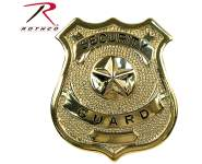 Rothco Security Guard Badge, badges,public safety badges,security guard,security officer,special officer,special police,security badge,officer badge,police badge,shields,security shield,guard shield,nickle plated,pin back,badge,shield,gold badge,gold shield,gold security shield,security