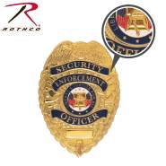 Rothco Flexible Security Badge, security badge, flexible badge, bendable badge, police badge, security officer badge, law enforcement badge, police officer badge, badge, officer badge, security guard badge, private security badge, security officer shield, cop badge