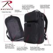 BLACK Military Combat Tactical Tactisling Transport Shoulder Backpack 25110